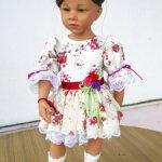 Шифоновое платье для кукол  42-46-50 см