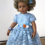 Гипюровые платья для кукол 46см-50см-55см