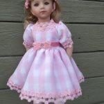 Платье бело-розовое для Готц, Мару