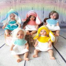 Радужные зайки. Авторские куклы