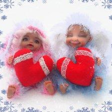 Пара новеньких малышей. Авторские куклы Егоровой Елены