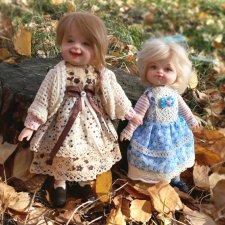 Осенняя зарисовка. Авторские куклы Егоровой Елены
