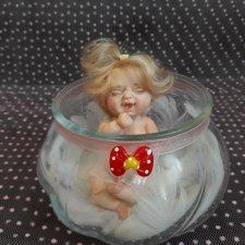 Спящая красавица в шаре. Авторские куклы Егоровой Елены