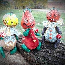 Веселые тыковки к Хеллоуину. Авторские игрушки Егоровой Елены