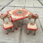 Деревянный столик со стульчиками ручная роспись