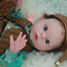 Эльфик мальчик Лука. Кукла реборн, молд Luna by Olga Auer