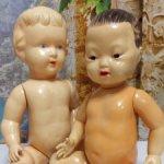 Пара целлулоидных малышей лотом