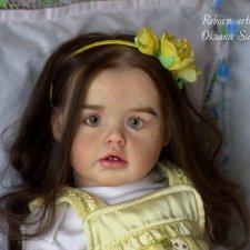 Кукла реборн Ариэлька - весенний цветочек. Молд Ariel cкульптора Joanna Kazmierczak