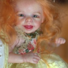 Рыжая эльфийка! Кукла реборн из молда Shasta скульптора Marita Winters