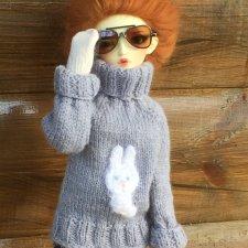 Вязанные свитера с аппликацией для МСД (Минифи и им подобным)