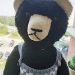 Антикварный большой немецкий мишка медведь