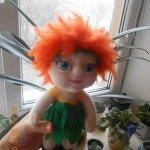 Кукла из шерсти для валяния - Малыш Одуванчик