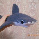"""Мои """"недопоказанные"""" акулята. Игрушки сухим валянием ручной работы"""