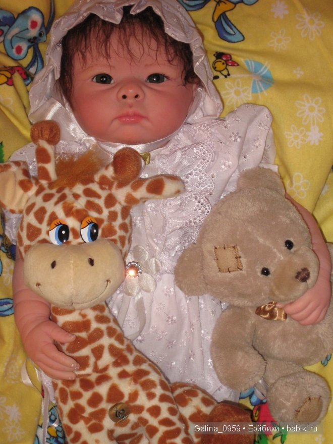 С жирафом и мишкой