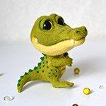 Крокодильчик Стив. Игрушка валянием своими руками