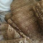 Снижение цены -150 рублей !!Шикарное винтажное кружево коньячного цвета, 50-к годы