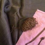 Старинный хлопковый сутаж , шоколадный цвет, для декора кукольных нарядов