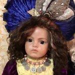 Восточное колье с кораллом для крупных кукол,.