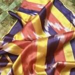 Натуральный шелковый таджикский атлас , для восточных творческих проектов