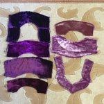 Лот: лоскуты антикварного шёлкового бархата , шёлк сто процентов , для творчества .