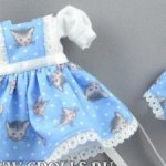 Платье Heartstring Dollds на малышек Diana Effner. Идеально подходит куклам Kidz'n'Cats mini