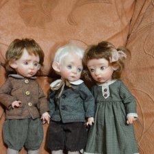Питер, Клара и Ганс. Авторские куклы Катрушовой Татьяны