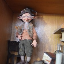 Гномик Бруно. Авторская кукла Катрушовой Татьяны