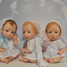 Три ангелочка. Авторские куклы Катрушовой Татьяны