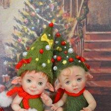 Новогодние малыши-пиксики. Авторские куклы Катрушовой Татьяны
