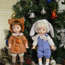 Алёна и Женечка. Авторские куклы Катрушовой Татьяны