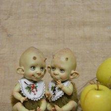 Фруктоежки. Авторские куклы Катрушовой Татьяны