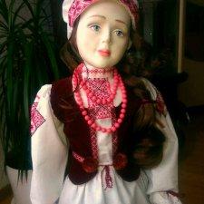 """Авторская кукла из фарфора. """"Белорусочка"""""""