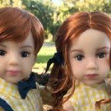 """Совместная закупка. Новыe  13"""" куклы  от Maru & friends twins Ash & Joy - очаровательные  близнецы Эш и Джой"""
