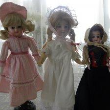 3 малышки антикварные куклы  одним лотом