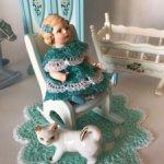 Мини салфетка для кукольного интерьера