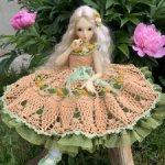 Платье для кукол БЖД Минифи (MiniFee) 41-45 см. и схожих по размеру.