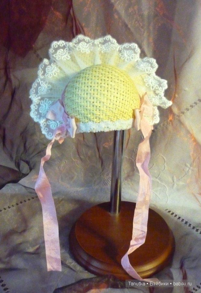 """Соломенная шляпка """"Розовый жемчуг"""""""