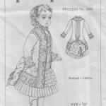 Выкройка костюма для антикварной куклы 15 дюймов.