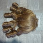 Недорого винтажный парик локоны, б/у, на ОГ 23-24 см