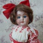 Антикварная кукла Fleischmann & Bloedel с редкой маркировкой 1907 DEP, 44 см.