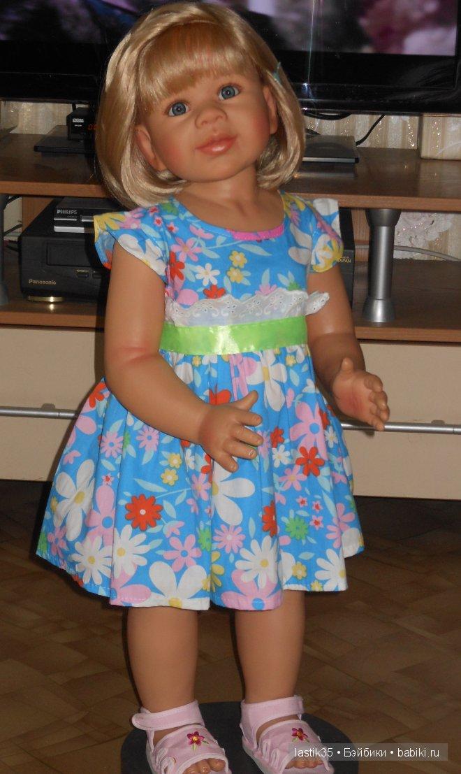 Вот такое у нас  веселенькое летнее платье: