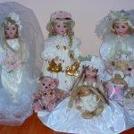 """Фарфоровые куколки от Линды Рик """"Подружки невесты"""""""