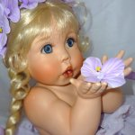 Прекрасная Веолет, фарфоровая кукла от Сидни Рольф