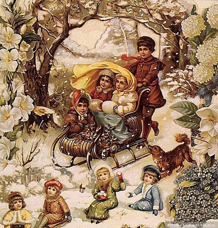 старинные новогодние открытки в хорошем качестве маникюр подарок отличный