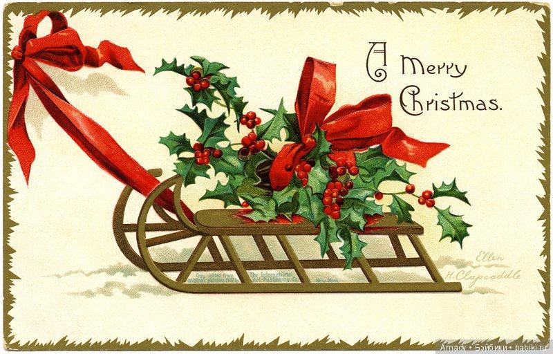 открытки в английском стиле с новым годом запросу наращивание ногтей
