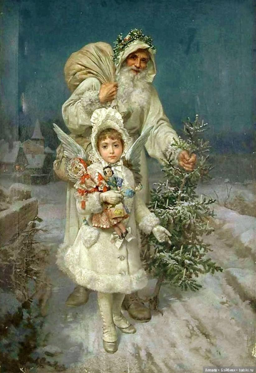 открытка новогодняя старинная фото переправила его мать
