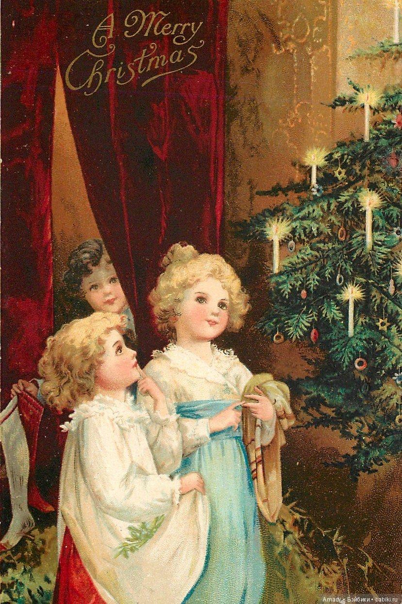 Старинные фото открытки с рождеством