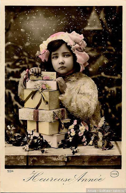 Фото винтажных новогодних открыток, великом