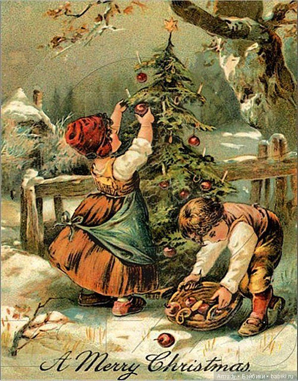 Рождественского новогодние открытки