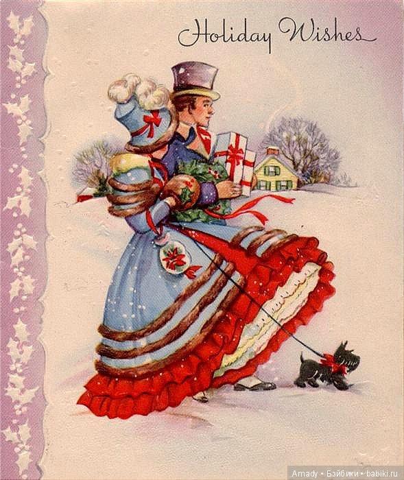 мне кажется, старинные французские открытки на новый год вот